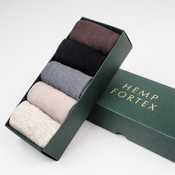 Hemp & Organic Cotton Men's Crew Socks, 5 Pack, Free Shipping