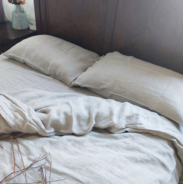 YM   Dust Edge Hemp Bed Kit Enzymes To Wash Soft Hanh Twill Bed Linen Sleeveless Linen