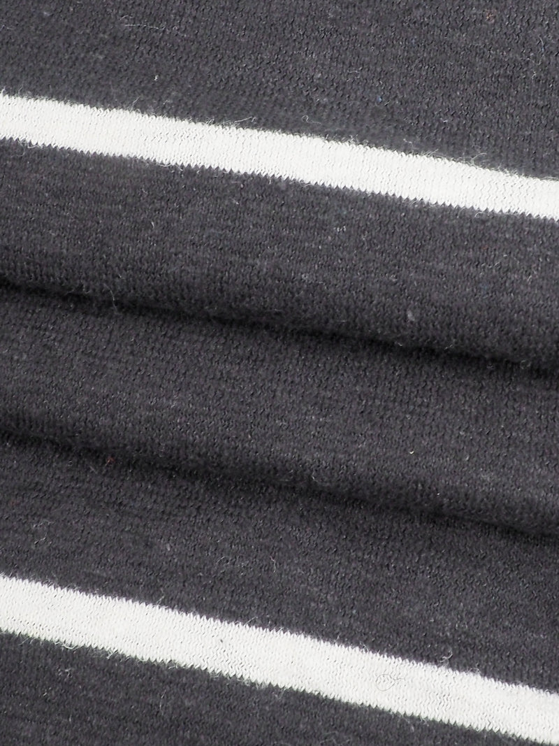 Hemp & Organic Cotton Mid-Weight Yarn Dyed Stripe Jersey( KJ21D960, Two Colors Available)