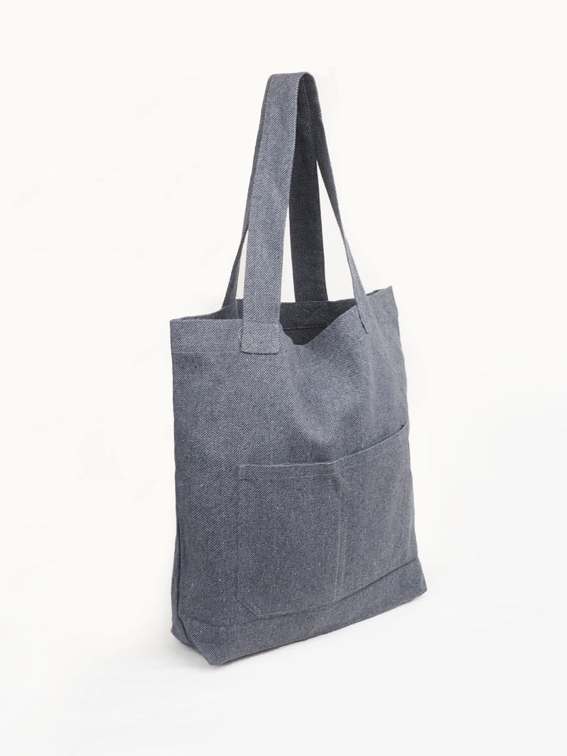 Gray Recycled Hemp Tote - Hemp Fortex