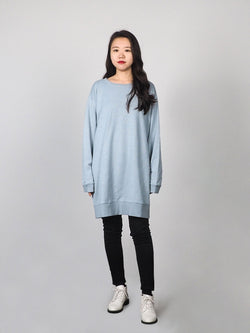 The Hemp Organic Cotton Medium - Long Term Boyfriend Pullover Hoodie (GWDRS00032)