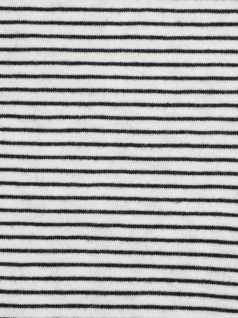 Pure Organic Cotton  Light Weight Yarn Dyed Stipe Slub Jersey ( KJ40E842A)