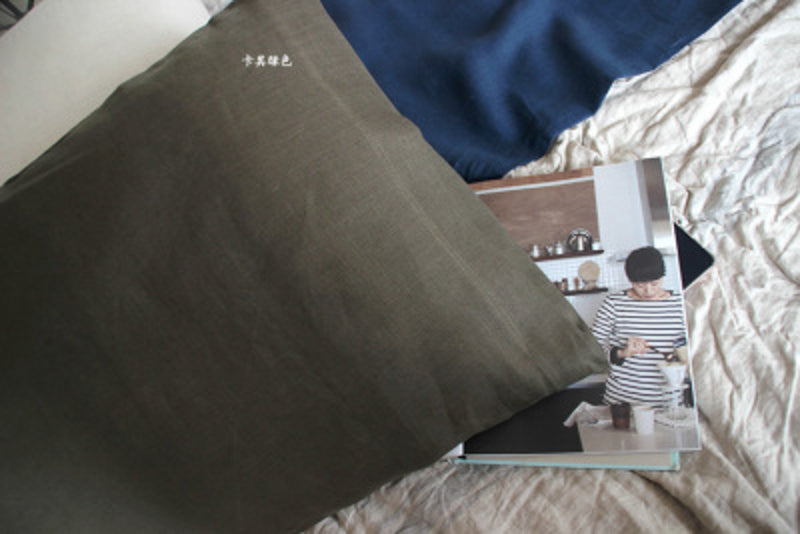 YM Foreign Trade Winter Warm Summer Cool Chinese Hemp Wash Hemp Single Pillowcase Pillow-case Does Not Rise Ball
