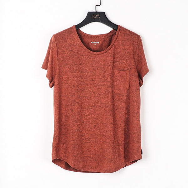 Hemp , Recycled Polyester & Tencel Women's  Pocket T-shirt (BST016)