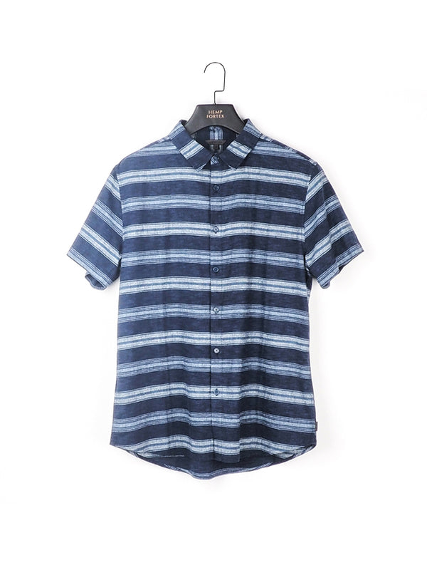 Hemp & Organic Cotton Men's Short Sleeve Shirt (BST004)
