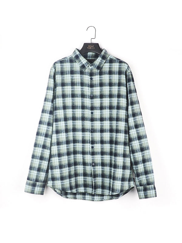 Hemp & Organic Cotton Men's Casual Long Sleeve Shirt (BST005)