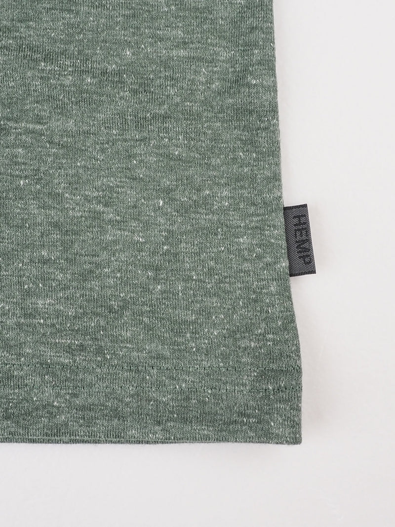 Hemp Recycled Polyester Men's Round Collar  T-shit (BST007)