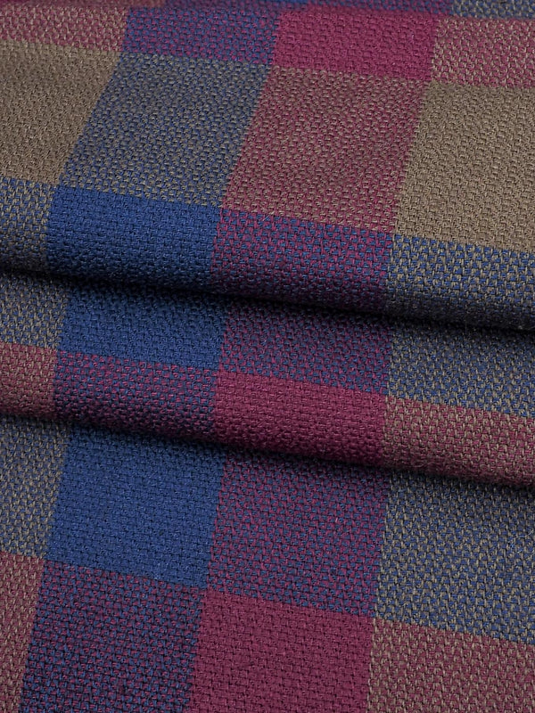 Pure Organic Cotton Light Weight Plaid Fabric (GN12415)