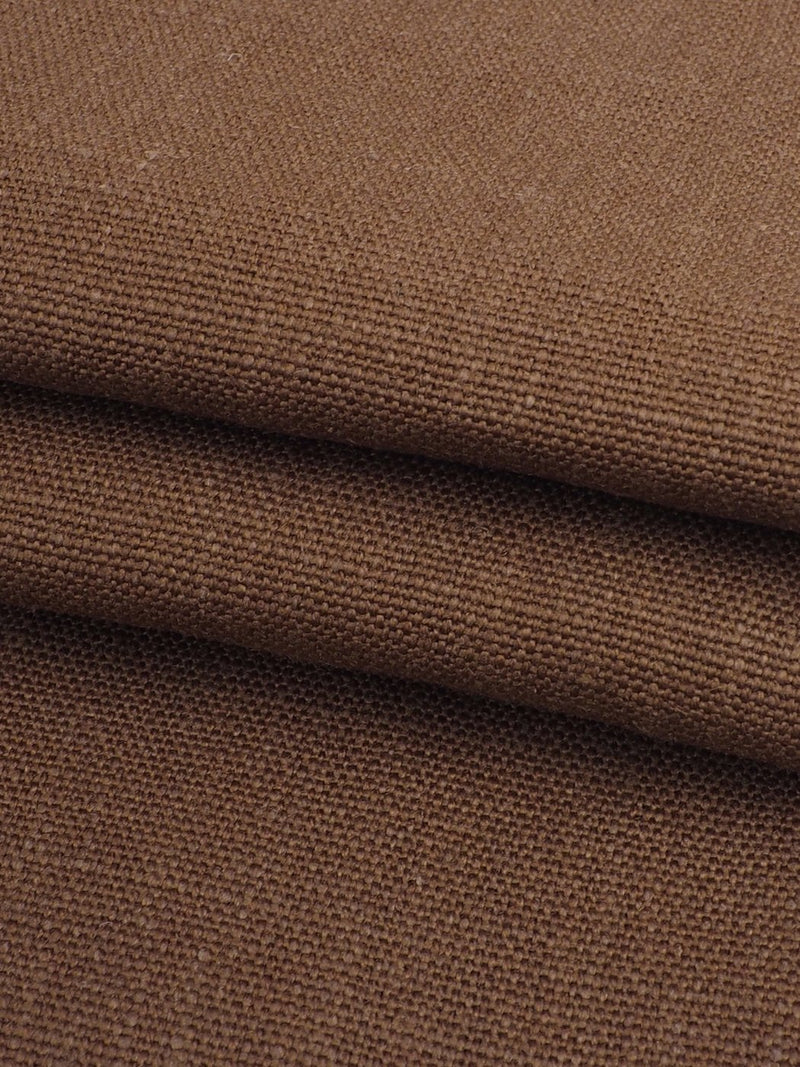 Pure Hemp Heavy Weight Canvas Fabric ( HE111A Brown Color )