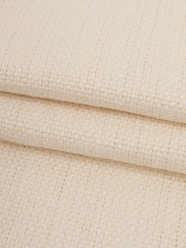 Pure Hemp Heavy Weight Canvas Fabric ( HE12015 Natural White )