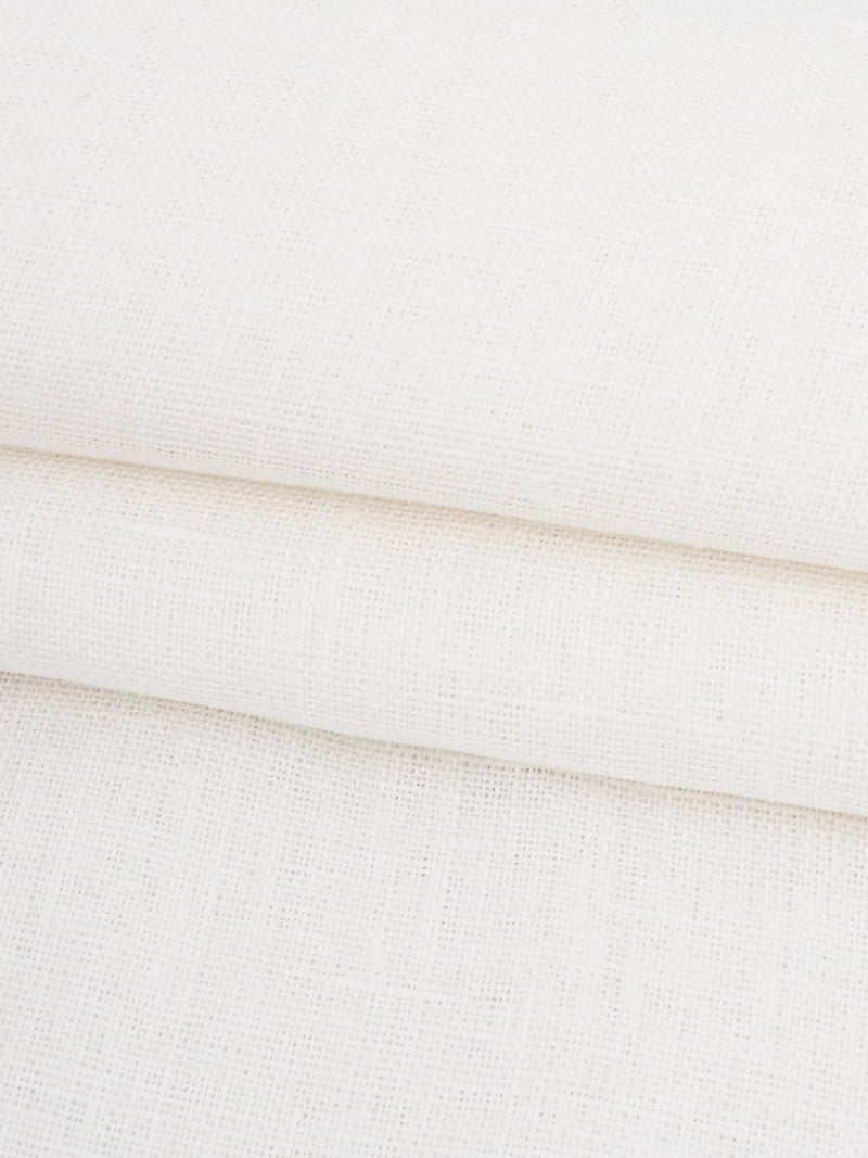 Pure Hemp Light Weight Muslin Fabric ( HE4001B Natural White )