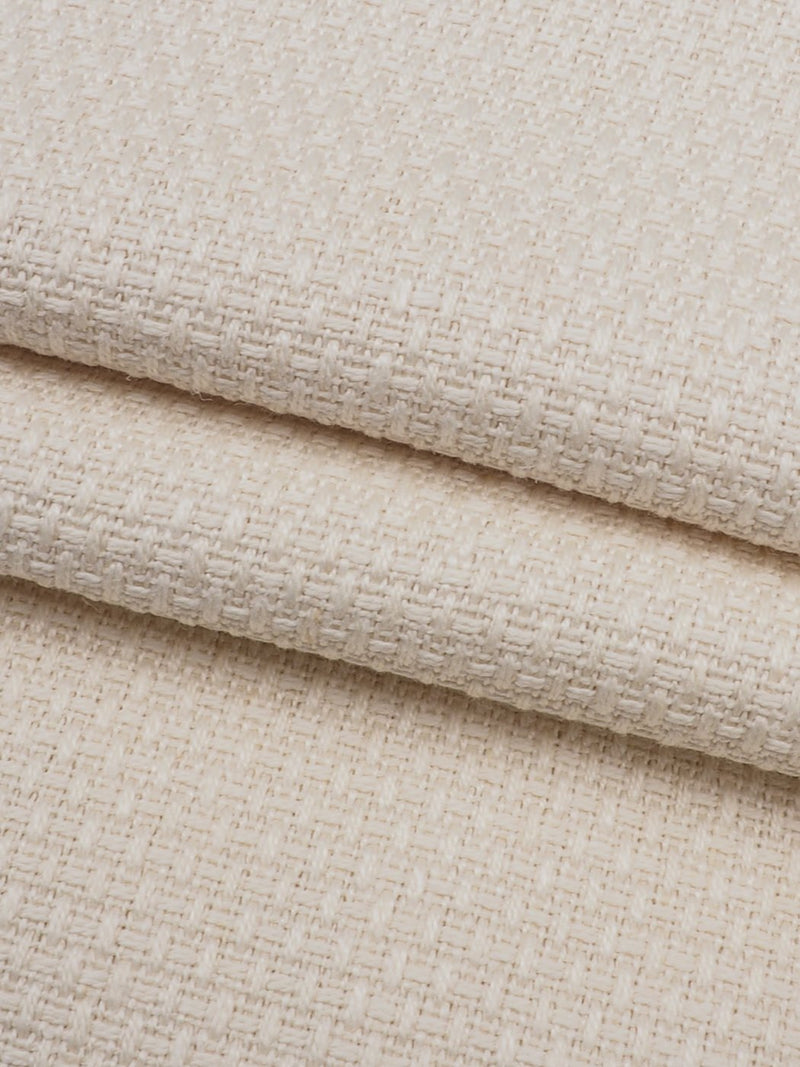 Pure Hemp Heavy Weight Jacquard Fabric ( HE623 Natural )