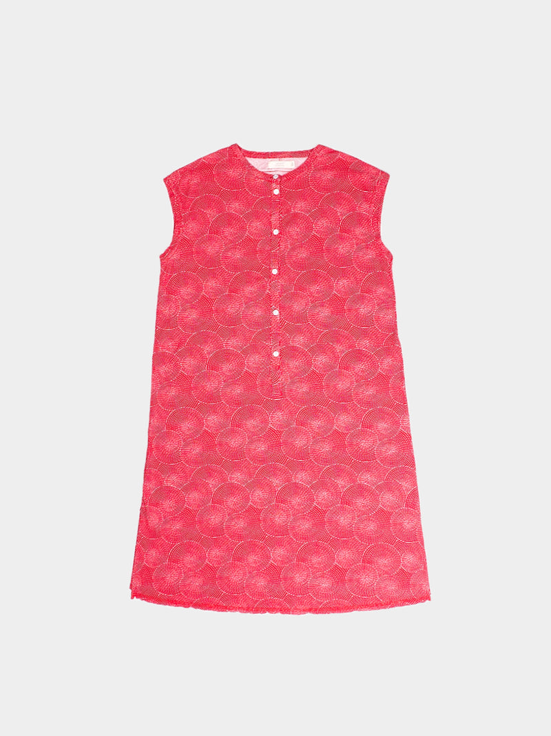 Hemp, Organic Cotton Mid-Weight Printed Pinafore Dress ( Six Colors Available)( HTCQ05 )