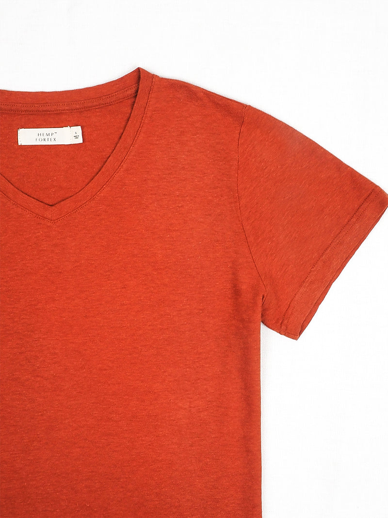 Hemp, Organic cotton Blended V-neck Women's Short-sleeved T-shirts ( HTCQ14 ) ( 8 Colors Available)