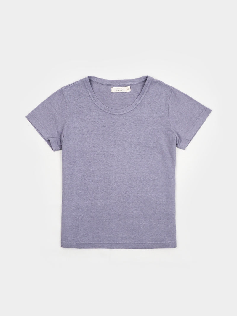 Hemp, Organic Cotton Women's Round Neck Short-Sleeved T-shirt ( Short- Length) ( HTCQ15 )