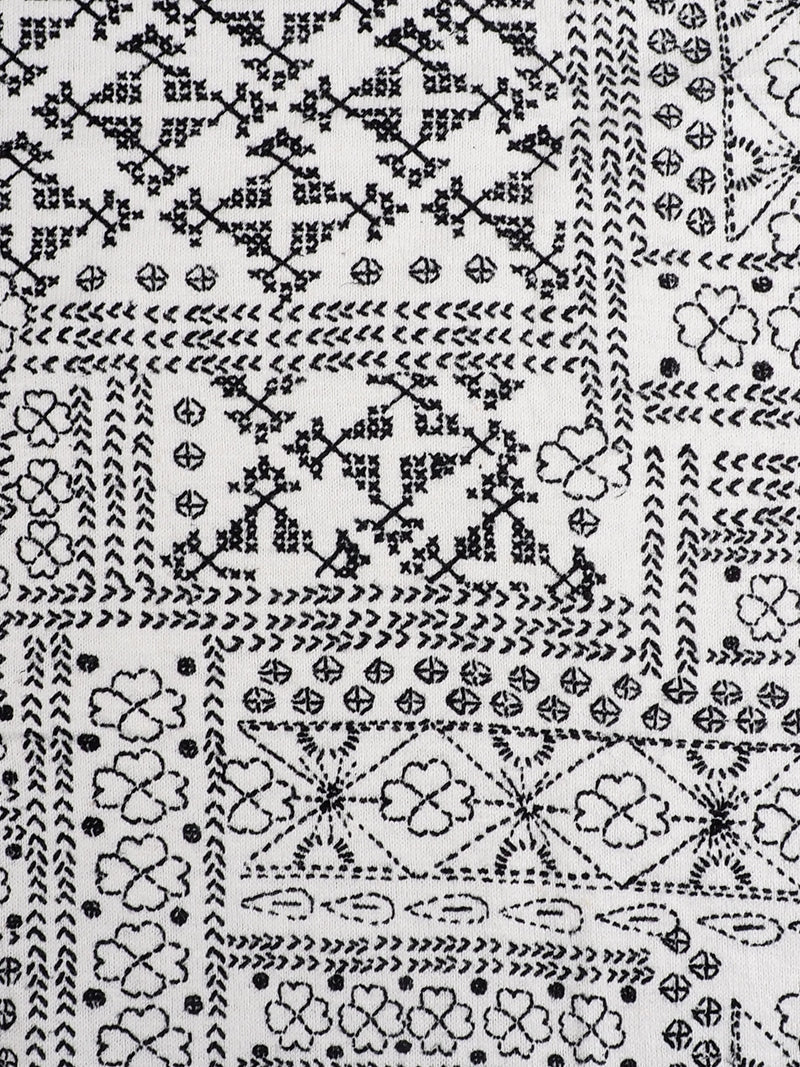 Hemp & Organic Cotton Mid-Weight  Printed Jersey Fabric ( KJ2024C)