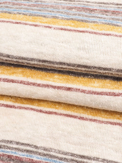 Hemp & Recycled Poly Mid-Weight Yarn Dyed Stripe Jersey Fabric  ( KJ21/2D927A)