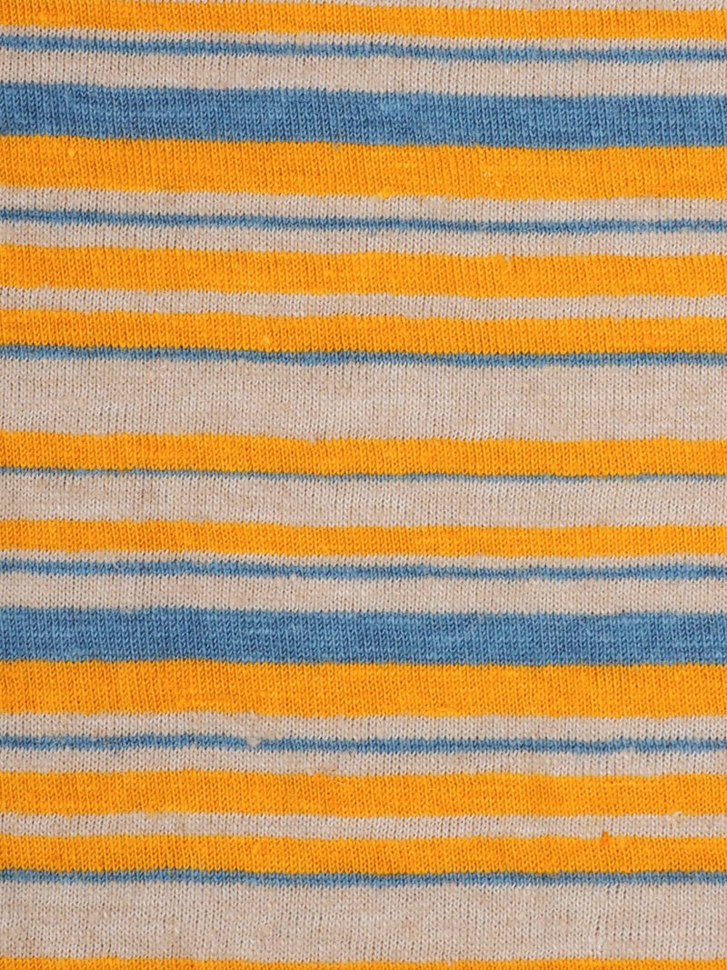 Hemp & Organic Cotton Light Weight Stripe Jersey Fabric ( KJ21D851 Two Colors Available )