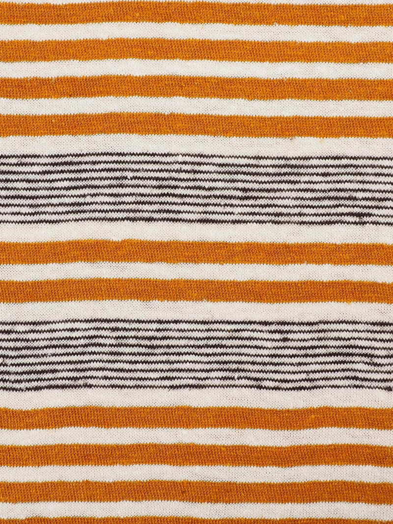 Hemp & Organic Cotton Light Weight Yarn Dyed Stripe Jersey Fabric ( KJ21D888, Five Colors Available )