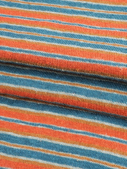 Hemp & Organic Cotton Light Weight Yarn Dyed Stripe Jersey Fabric  ( KJ21D901, Two colors Available )