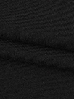 Organic Cotton & Bamboo Heavy Weight Stretched Jersey Fabric  ( KJ24B931 Black )