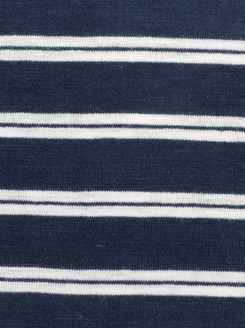 Pure Organic Cotton  Light Weight Yarn Dyed Stripe Slub Jersey (KJ30B804B)
