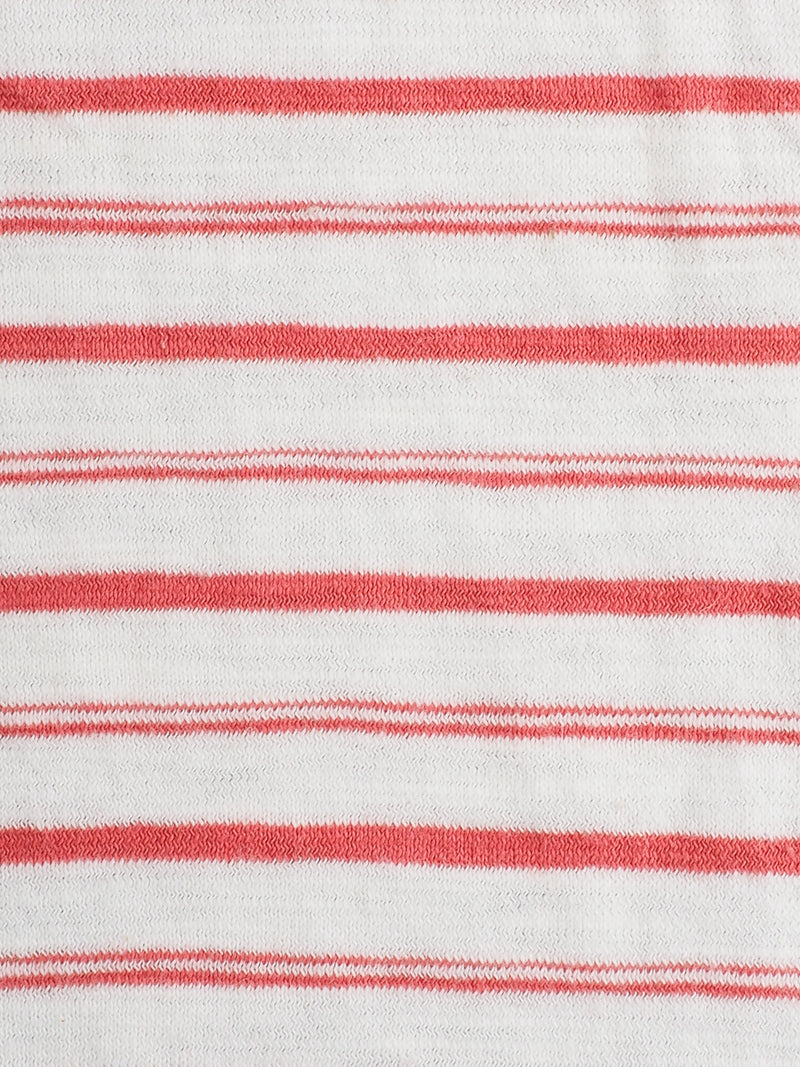 Pure Organic Cotton Light Weight Stripe Yarn Dyed Jersey Fabric ( KJ30B805 Two COLORS AVAILABLE )
