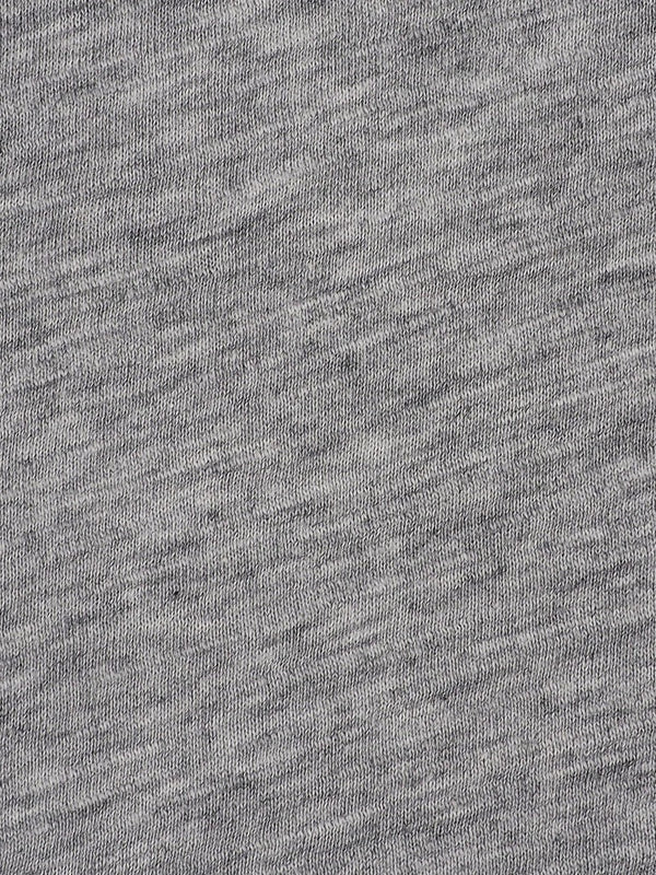 Pure Organic Cotton Light Weight Heather Grey Slub Jersey Fabric(KJ30B881F)