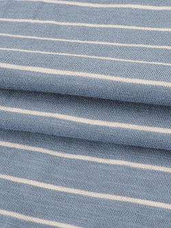 Pure Organic Cotton  Light Weight Yarn Dyed Stripe Slub Jersey (KJ30D861A)