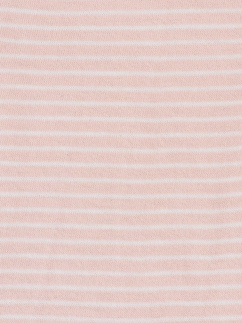 Pure Organic Cotton Light Weight Slub Stripe Jersey Yarn Dyed Fabric (KJ40E842B)