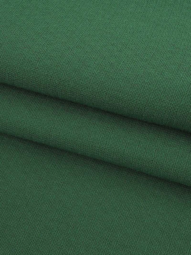 Pure Organic Cotton Light Weight Fabric ( OG14355 Green Color )