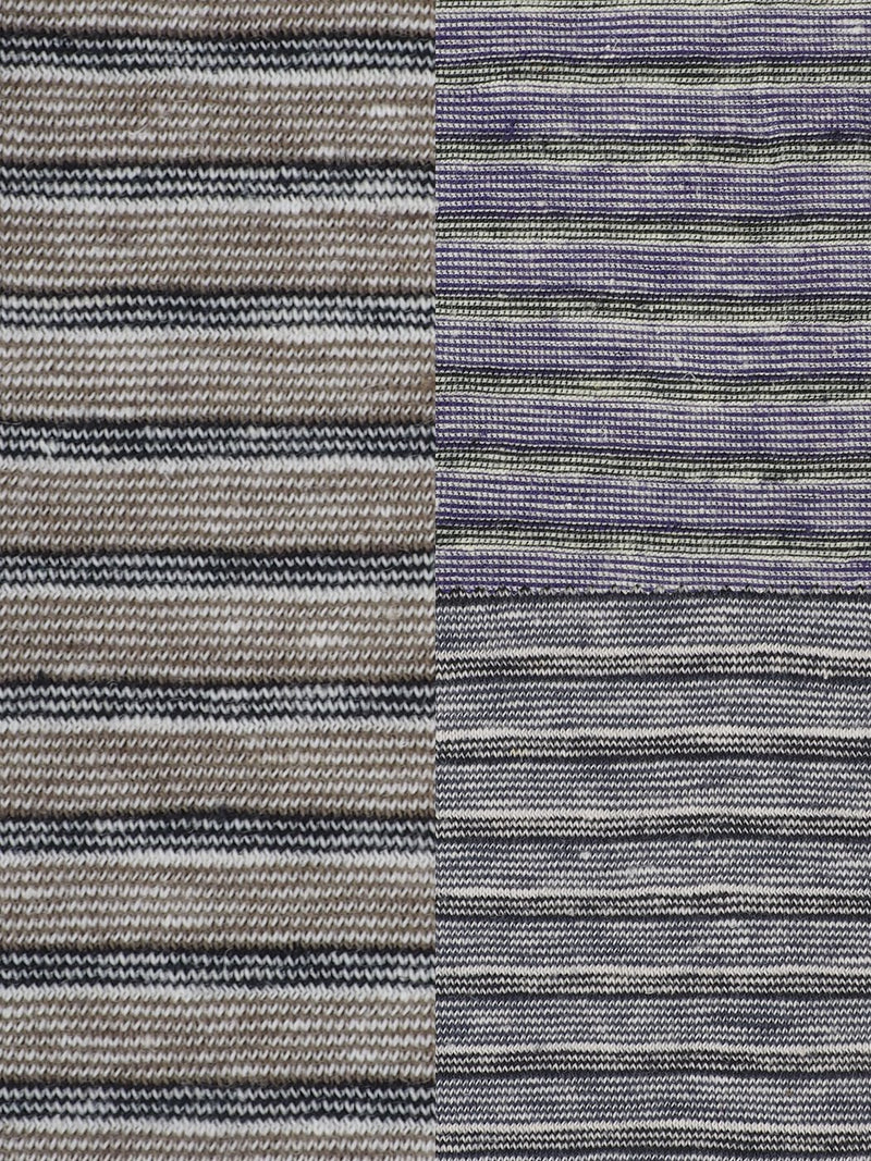 Hemp & Organic Cotton Light Weight Yarn Dyed Stripe Jersey Fabric ( KJ11858 Three Colors Available ) - Hemp Fortex