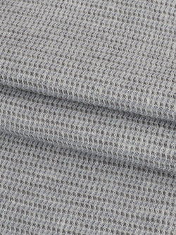 Hemp & Organic Cotton Light Weight Jersey Fabric ( KJ17826 Greyish Blue ) - Hemp Fortex