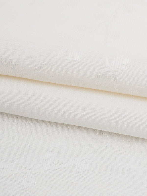 Hemp & Silk Light Weight Jacquard Fabric ( HS305 Natural White Color ) - Hemp Fortex