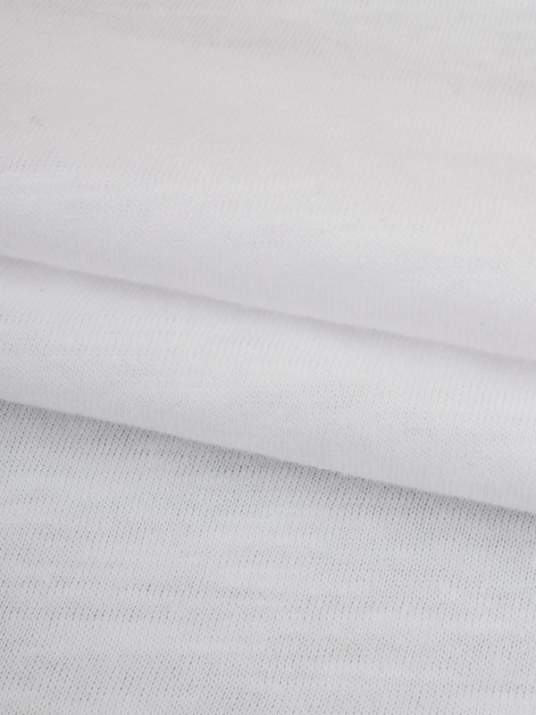 Pure Organic Cotton Light Weight Slub Jersey Fabric(KJ08213)