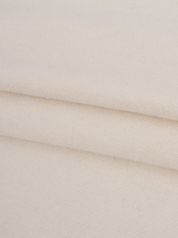 Hemp & Organic Cotton Mid-Weight Natural White Jersey Fabric ( KJ21B944 )