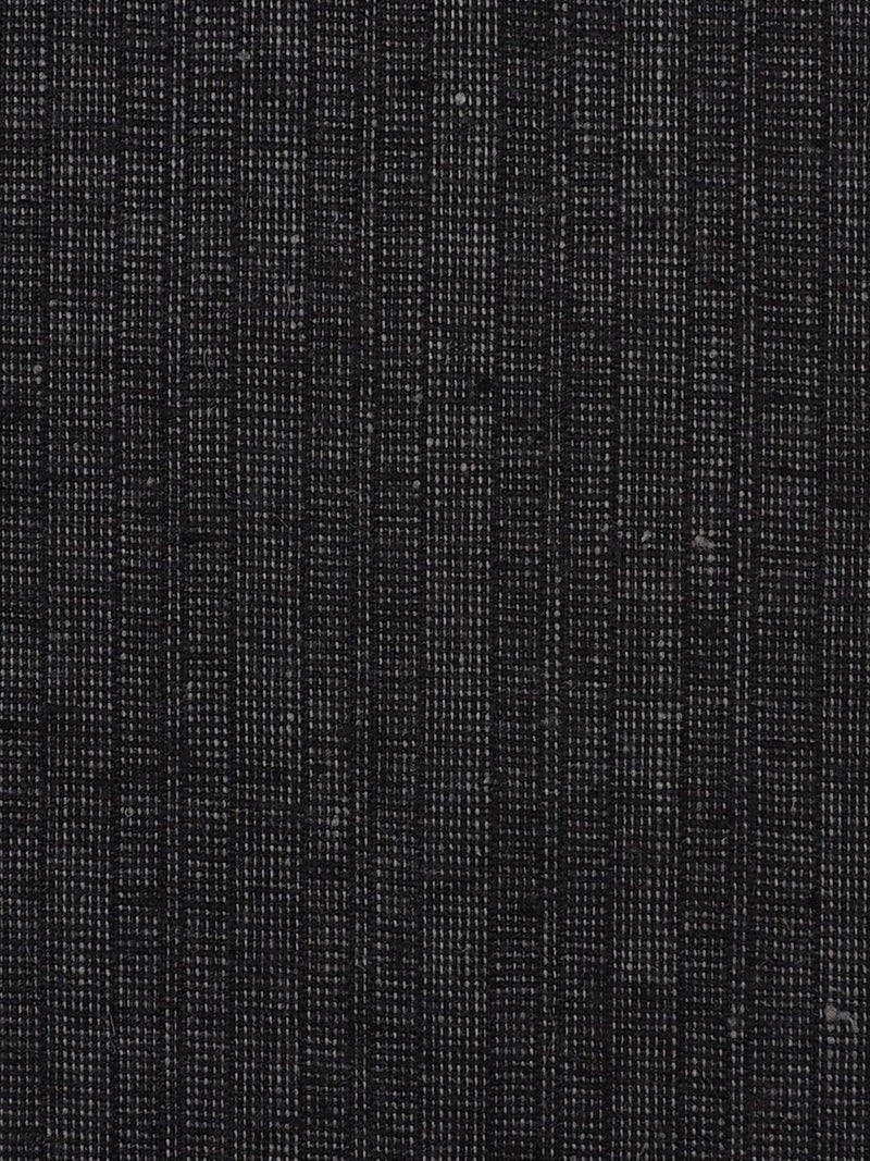 Hemp & Recycled Poly Light Weight Elastic Plaid Fabric (HP13512 Black Color ) - Hemp Fortex