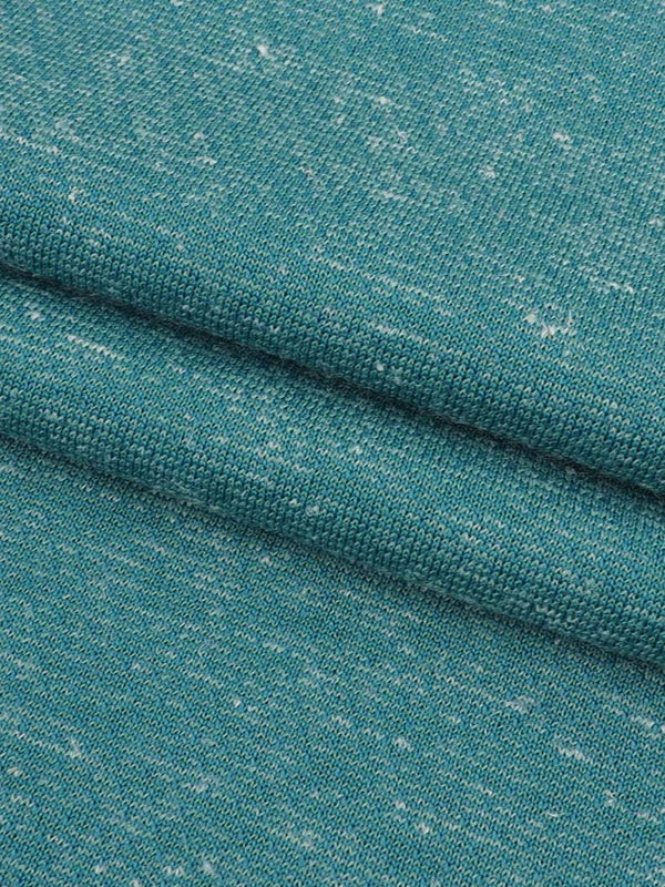 Hemp & Recycled Poly Light Weight Jersey Fabric ( KJ70/2B862 Emerald Blue ) - Hemp Fortex