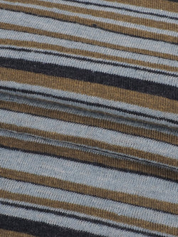 Hemp & Organic Cotton Light Weight Stripe Jersey Fabric ( KJ21D851 Two Color Available )