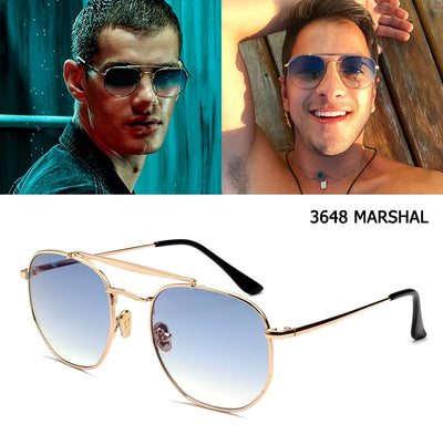 JackJad 2020 Fashion Polygon Metal Style Uni - Serac Sunglasses Online