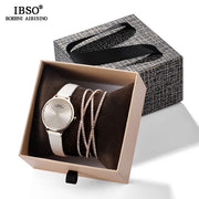 IBSO Women's Quartz Watch Crystal Bracelet Watches Set - Serac Sunglasses Online