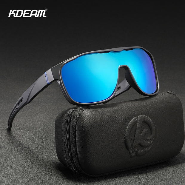 KDEAM One Piece Shape Polarized Sunglasses Men Sports - Serac Sunglasses Online
