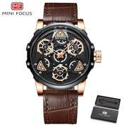 MINI FOCUS Men Leather Military Sports Watch - Serac Sunglasses Online