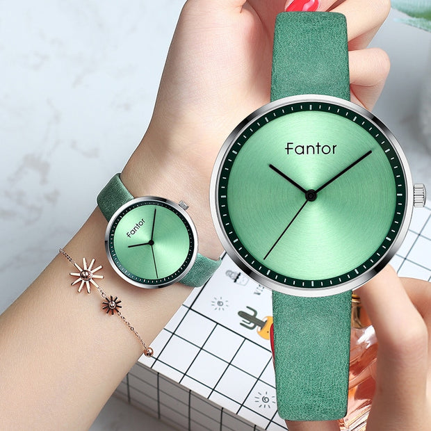 Fantor Fashion Brand Luxury Minimalist Watch Women Green - Serac Sunglasses Online