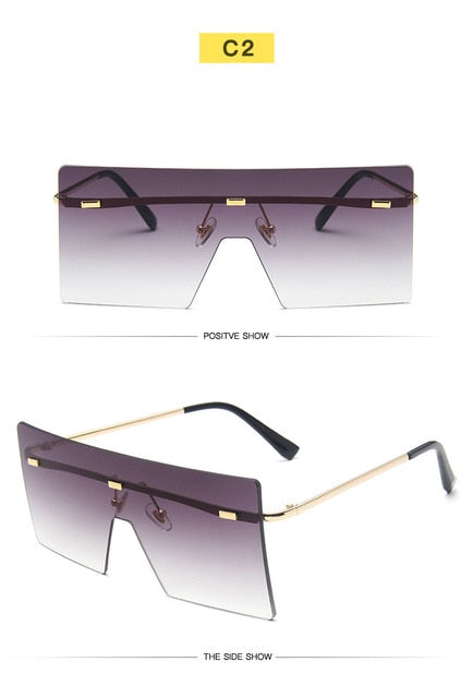 VCKA Luxury Rimless Sunglasses