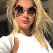 High Quality Luxury Brand Round Sunglasses For Women Exquisite Rainbow Diamond Shades - Serac Sunglasses Online