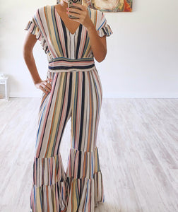 Multi Stripe Jumpsuit - Cocoa Couture Miami Boutique
