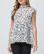 White Dotted Billowy Top