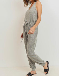 Light Grey Knit Jumpsuit - Cocoa Couture Miami - Clothing Boutique