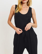 Black Drawstring Jumpsuit